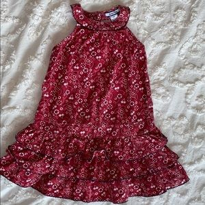 Heartstrings, Red and white paisley pattern dress
